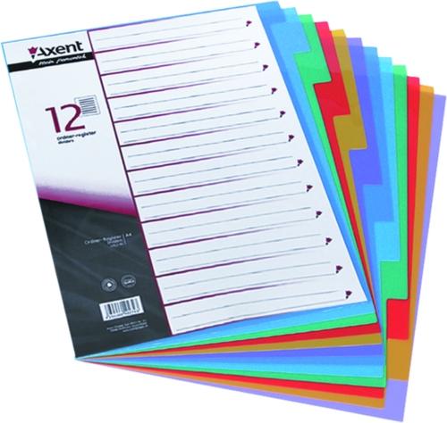 Розділювач кольоровий пластиковий 1-12 Axent