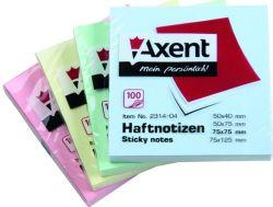 Стікери 75х75/100 пастельні кольори асорті Axent