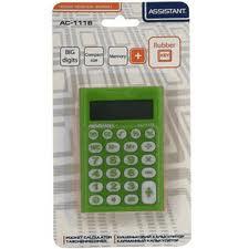 Калькулятор Assistant  AC-1116 зелений