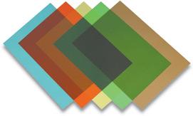 Обложка Colour transparent 180м.красная