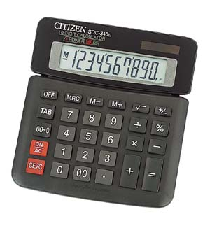 Калькулятор Citizen SDC-340