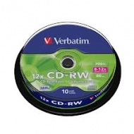 Диск CD-RW Verbatim cake10