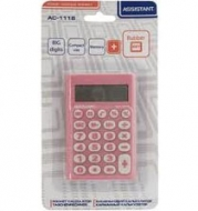Калькулятор Assistant  AC-1116 рожевий