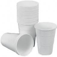 Стакан пластиковий білий 200мл 100шт