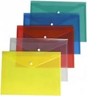 Папка-конверт на кнопці А4 прозора Economix