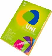 Папір кольор.А4 80г 200арк.4кольори UNI Color NEON MIX