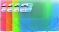 Папка на гумках прозора А4 Axent асорті