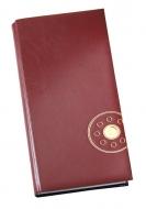 Книга алфавитная 135х285мм Vanol бордовая
