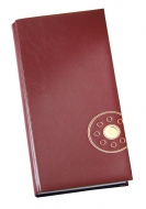 Книга алфавитная 135х285мм Vanol синяя