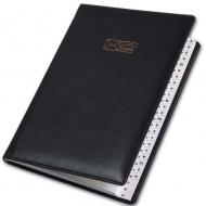 Книга алфавитная 145х206мм Soft черная Brunnen