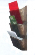Лоток для бумаг настенный Arnika дымчатый