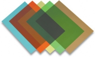 Обложка Colour transparent 180м.коричневая