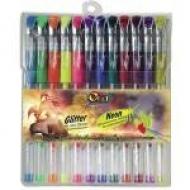 Набір гелевих ручок 12 кольорів Olli Neon