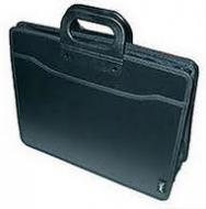 Портфель В4 чорний 3 відділення, блискавка Optima