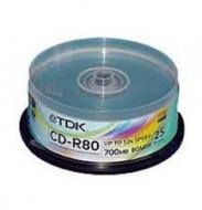 Диск CD-RW TDK cake25