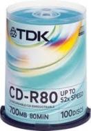 Диск CD-RW TDK cake100