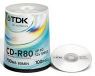 Диск CD-RW TDK bulk100