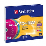 Диск DVD-RW TDK slim color