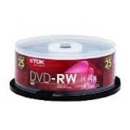 Диск DVD-RW TDK cake25