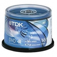 Диск DVD-R TDK cake50