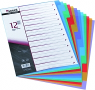 Розділювач кольоровий картонний 1-12 Axent