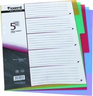Розділювач кольоровий картонний 1-6 Axent