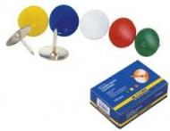 Кнопки канцелярскі Buromax кольорові 5104