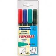 Набір маркерів Flipchart Centropen/скошений