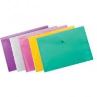 Папка-конверт на кнопці A4 прозора Buromax