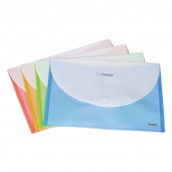 Папка-конверт на кнопці А4 біколор Axent